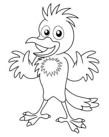 Illustration of Bird cartoon - coloring book Stock Vector - 16772016