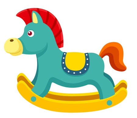 illustration of Rocking Horse Vector