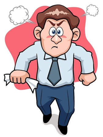 shocked: illustration of Angry business man