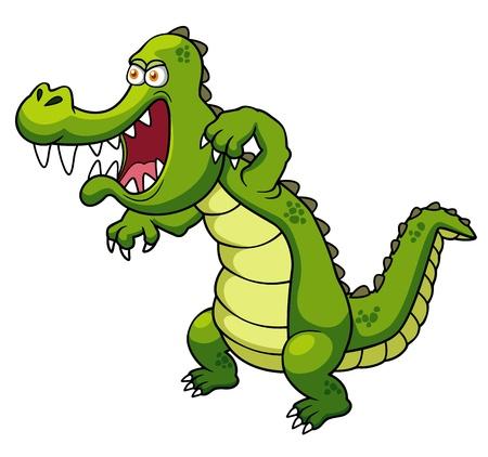 ilustración de dibujos animados de cocodrilo Ilustración de vector