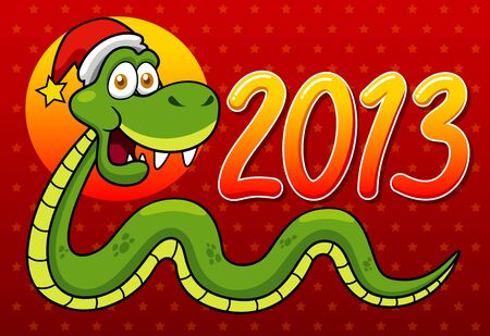 illustration of Cartoon snake - 2013 year Stock Vector - 16992098