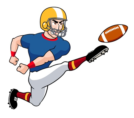 illustration of Cartoon American football player Vector