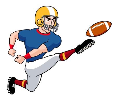helmet football team: illustration of Cartoon American football player Illustration