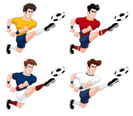 illustration of soccer player international collection Stock Vector - 17115612