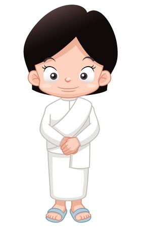 thai buddha: ilustraci�n de monjita