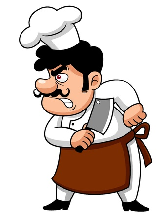 illustration of Cartoon Chef angry Stock Vector - 17307117