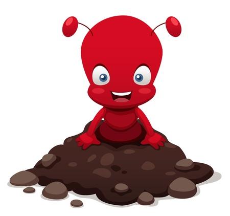 hormiga caricatura: ilustración de dibujos animados Ant