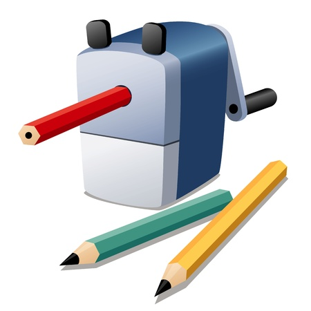 pencil sharpener: illustration of Pencil sharpener  Illustration