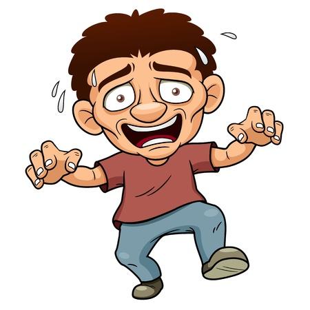 panique: illustration de l'Homme de dessin anim� peur