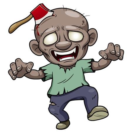 creepy monster: illustrazione del cartone animato zombie