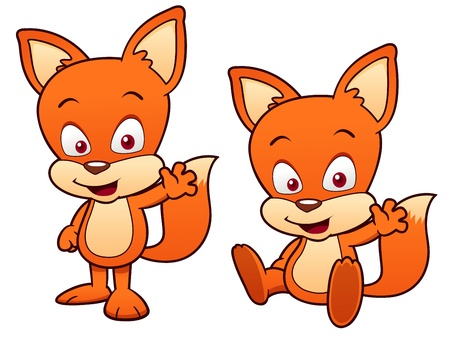 illustration of Cartoon Fox Vector