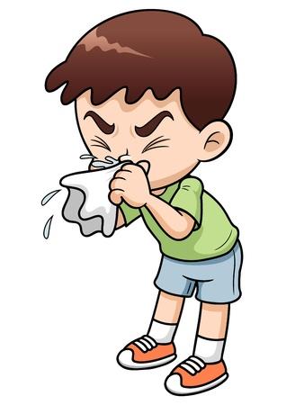 infectious: ilustraci�n de dibujos animados ni�o enfermo Vectores