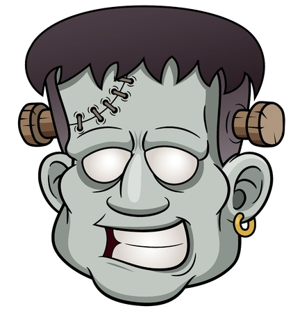 illustration of Cartoon zombie face Vector