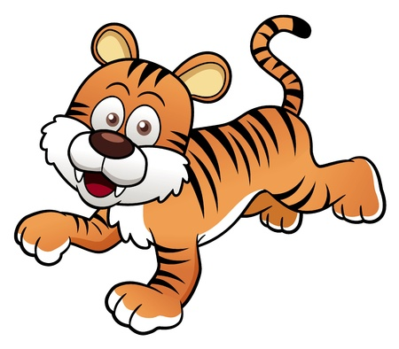 illustration of Tiger cartoon Vector