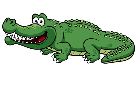 illustration of Cartoon crocodile vector Vector