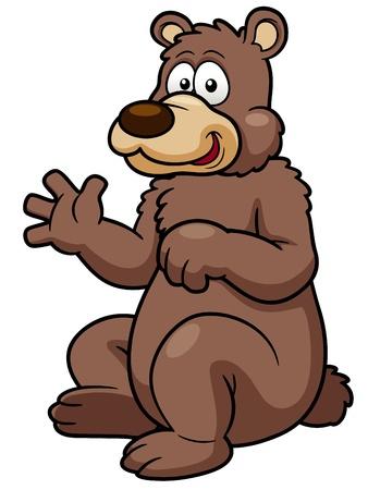 oso caricatura: ilustraci�n de dibujos animados oso pardo