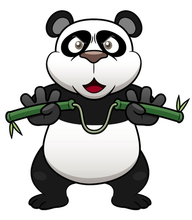 Illustration of Cartoon panda Vector