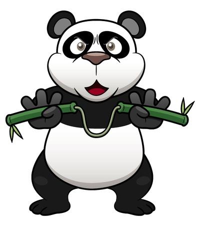 furry animals: Ilustración de la panda de dibujos animados