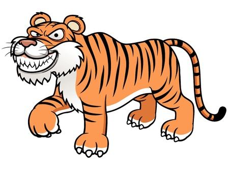 illustration of Cartoon tiger Stock Vector - 17948486