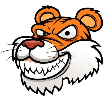 tiger head: illustration of Tiger Head Illustration