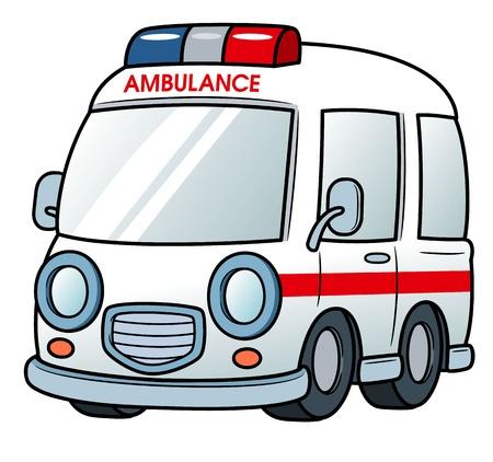 hopital cartoon: illustration de l'Ambulance Illustration