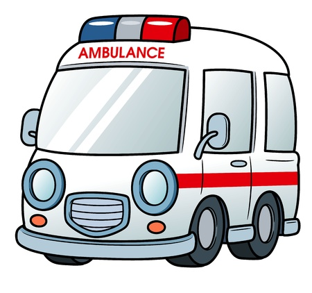 emergency response: illustration of Ambulance Illustration