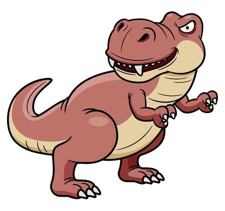 tyrannosaurus rex: illustration of cartoon dinosaur