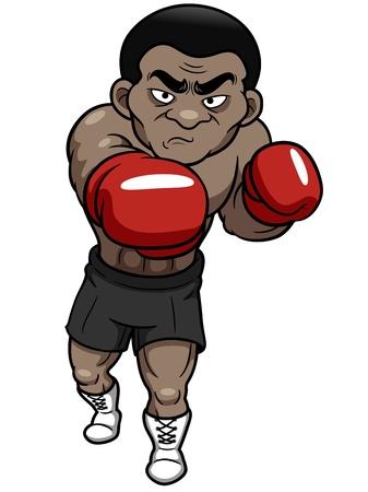 quickness: illustration of Cartoon boxer
