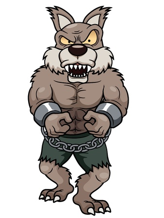 illustration of cartoon Werewolf Vector