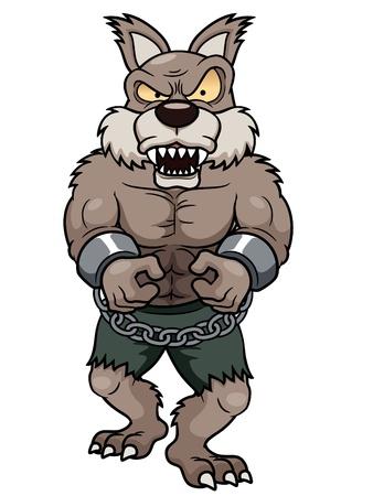 illustration of cartoon Werewolf