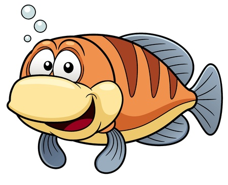 peces caricatura: Vector ilustración de pescados de la historieta