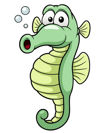 seahorse: Vector illustration of seahorse cartoon