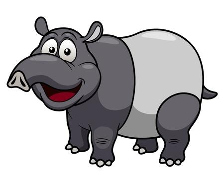 hocico: Ilustraci�n vectorial de dibujos animados tapir Vectores
