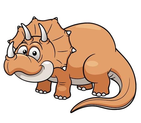 dinosaurio caricatura: Ilustraci�n vectorial de dinosaurio de la historieta