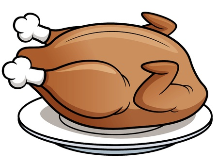 arrosto: Illustrazione vettoriale di pollo arrosto