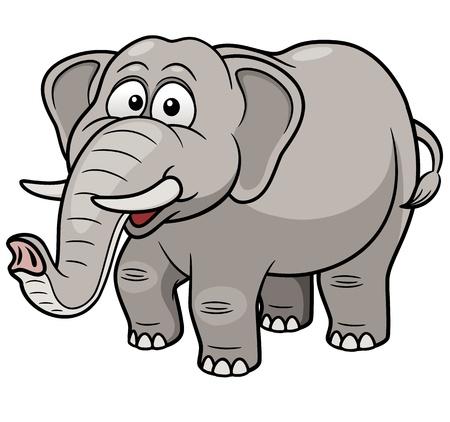 Vector illustration d'éléphant de bande dessinée Vecteurs