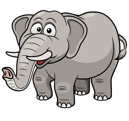 Vector illustration of Cartoon Elephant Illustration