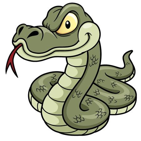 cartoon slang: Illustratie van de Slang van de cartoon