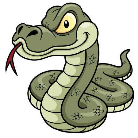 venomous snake: Illustration of Cartoon Snake