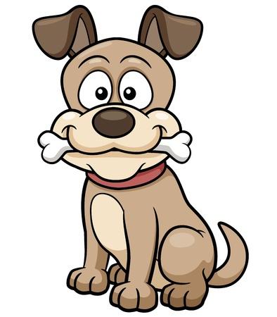 Vector illustratie van het beeldverhaal hond Stock Illustratie