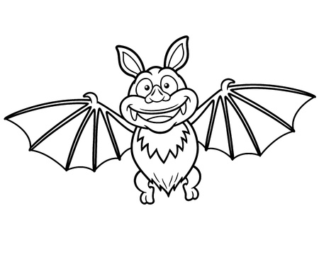 Vector illustration of Cartoon bat - Coloring book Stock Vector - 18430031