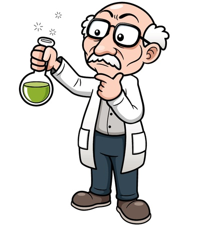 Vector illustration of Cartoon Scientist Stock Vector - 18430036
