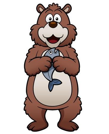 illustration of cartoon bear
