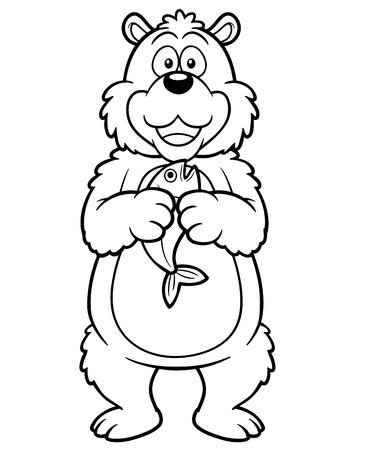 illustration of cartoon bear - Coloring book Stock Vector - 18461718