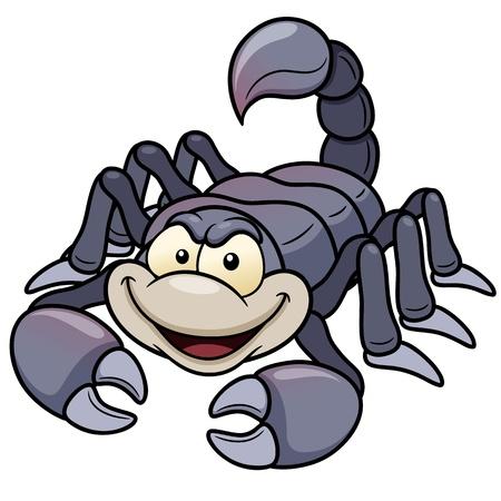 scorpion: illustration de scorpion de bande dessin�e Illustration