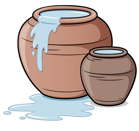 ollas de barro: Ilustración vectorial de la vasija de barro Vectores