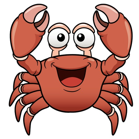 Vector illustration of Cartoon crab