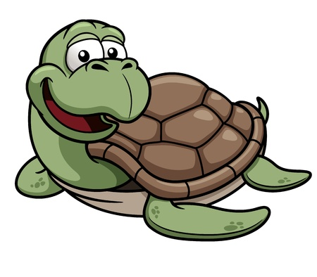 Vector illustration of Cartoon turtle Vector