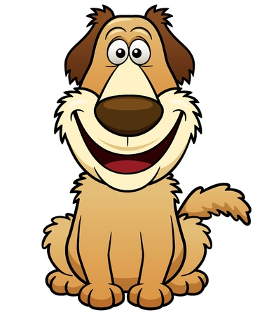 illustration of Cartoon Dog Vector