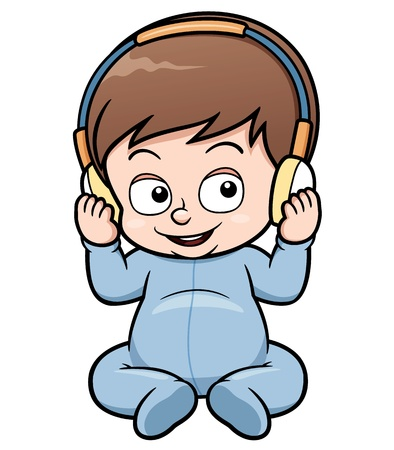 ilustração dos desenhos animados do bebê